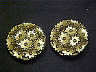 Vintage clip on earrings, Glass stars, W. Germany