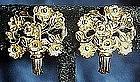 Vintage Napier flower bouquet earrings, sterling