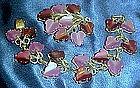 Demi Parure Coro lavender / purple bracelet and pin