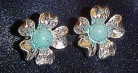Cute sarah Coventry silver tone flower earrings, clips