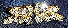 Eisenberg crystal rhinestone clip earrings