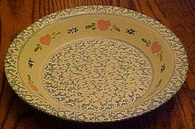 Casey Pottery sponged heart pattern pie plate