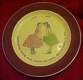 Commemorative plate, Orphans Home and Farm School