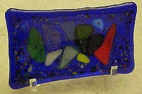 Higgins art glass pin dish