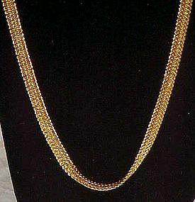 BC Lind, gold herringbone chain 14k GF