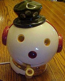 Snowman  head TV lamp