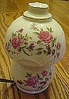 Vintage porcelain perfume lamp with pink roses