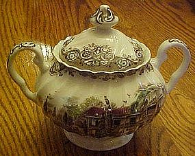 Johnson Brothers, Heritage Hall sugar bowl with lid