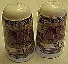 Johnson Brothers,Heritage Hall salt and pepper shakers