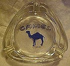 Camel cigarettes clear glass ashtray with camel logo