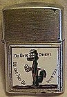 Vintage pengui lighter, Do unto others, funny lighter,