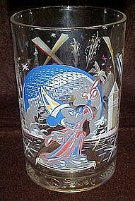 Walt Disney World 25th anniversary glass, Mickey Mouse