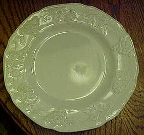 Colony harvest pattern milk glass dinner plates