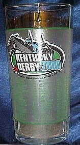 Kentucky Derby souvenir julep drinking glass, year 2000