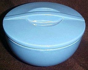 "Hall delphinium blue 6"" round covered leftover dish"