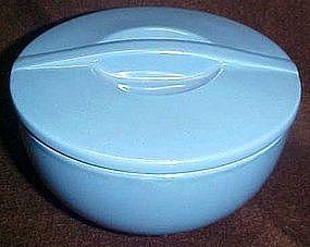 "Hall delphinium blue 6"" round covered leftover dish"