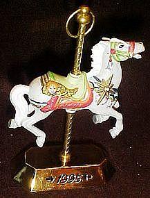 Hallmark 1995 carousel horse ornament by Tobin Fraley