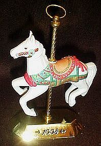 Hallmark 1994 carousel horse ornament by Tobin Fraley
