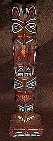 Souvenir  wood Thunderbird totem pole, Alaska
