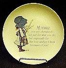 Holly Hobbie lasting memories, Mother poem  plate