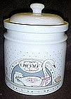Country Home cookie jar with Goose and calico's