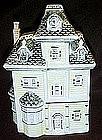 Yellow Victorian house cookie jar