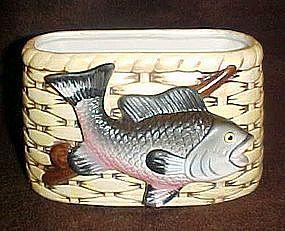 Vintage Napco rainbow trout planter