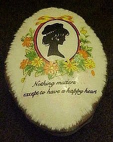 Enesco vintage silhouette trinket box