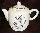 Starbucks coffee / tea pot, pink tulips