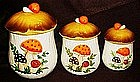 Sears Merry Mushroom's four piece cannister set