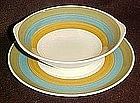 Kasuga Riviera Rainbow, salad plate or tabbed bowls