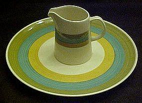 Kasuga Riviera Rainbow, dinner plate or creamer
