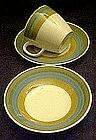 Kasuga Riviera rainbow, cup / saucer or dessert bowl
