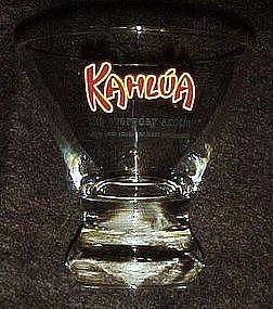 Kahlua advertising  bar glass