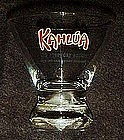 Kahlua advertising  bar glass