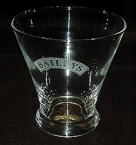 Baileys crystal glass advertising whiskey glasses