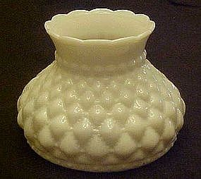 Diamond quilted milk glass replacement lamp shade.