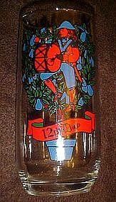 Pepsi twelveth day of Christmas glass, twelve drummers