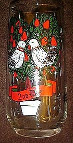 Pepsi second day of Christmas glass, two turtle doves