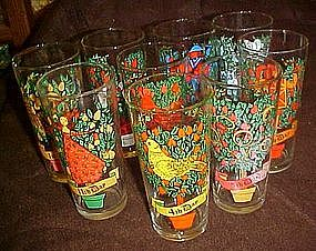 Brockway Pepsi 12 days of Christmas glass, 9th day