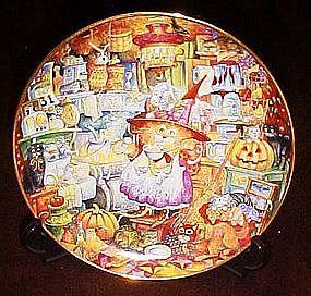 Bill Bell Scaredy Cats,  collector plate, box & coa