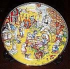 Bill Bell, A Purrfect feast, collector plate, box & coa