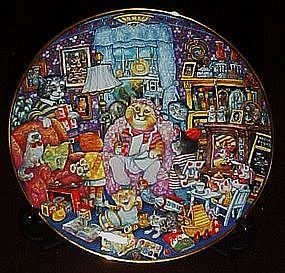 Bill Bell, Purfect Mom collector plate, box & coa