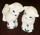 Old pottery lambs salt and pepper shakers, coleslaw
