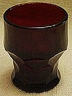 "Royal Ruby Georgian 4"" tumbler"