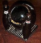 Large vintage  bowlers ashtray, ball and pins