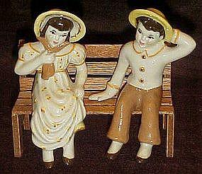 Ceramic Arts Studio Jack and Jill shelf sitters