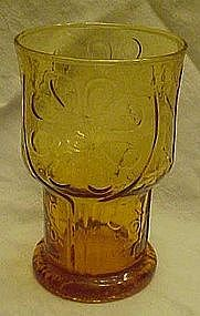 Libby country garden amber juice tumblers 4""