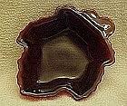 Anchor Hocking Royal Ruby leaf dish /  bowl