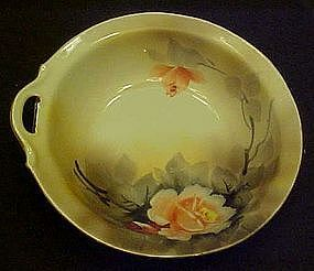 Noritake hand painted dish with pink roses